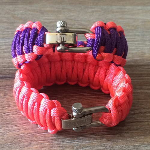 wide paracord survival bracelet