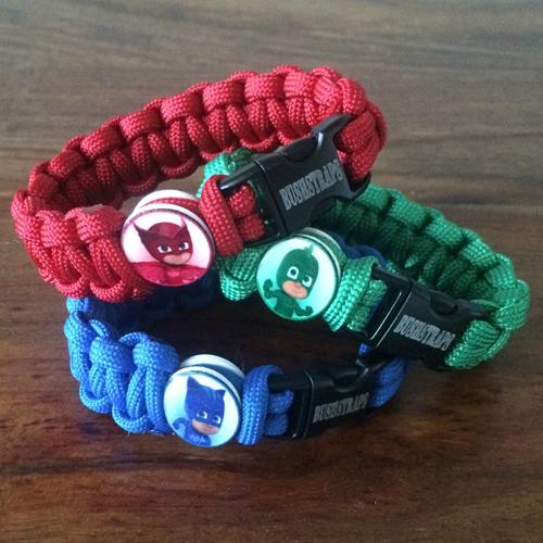 pj masks paracord bracelet